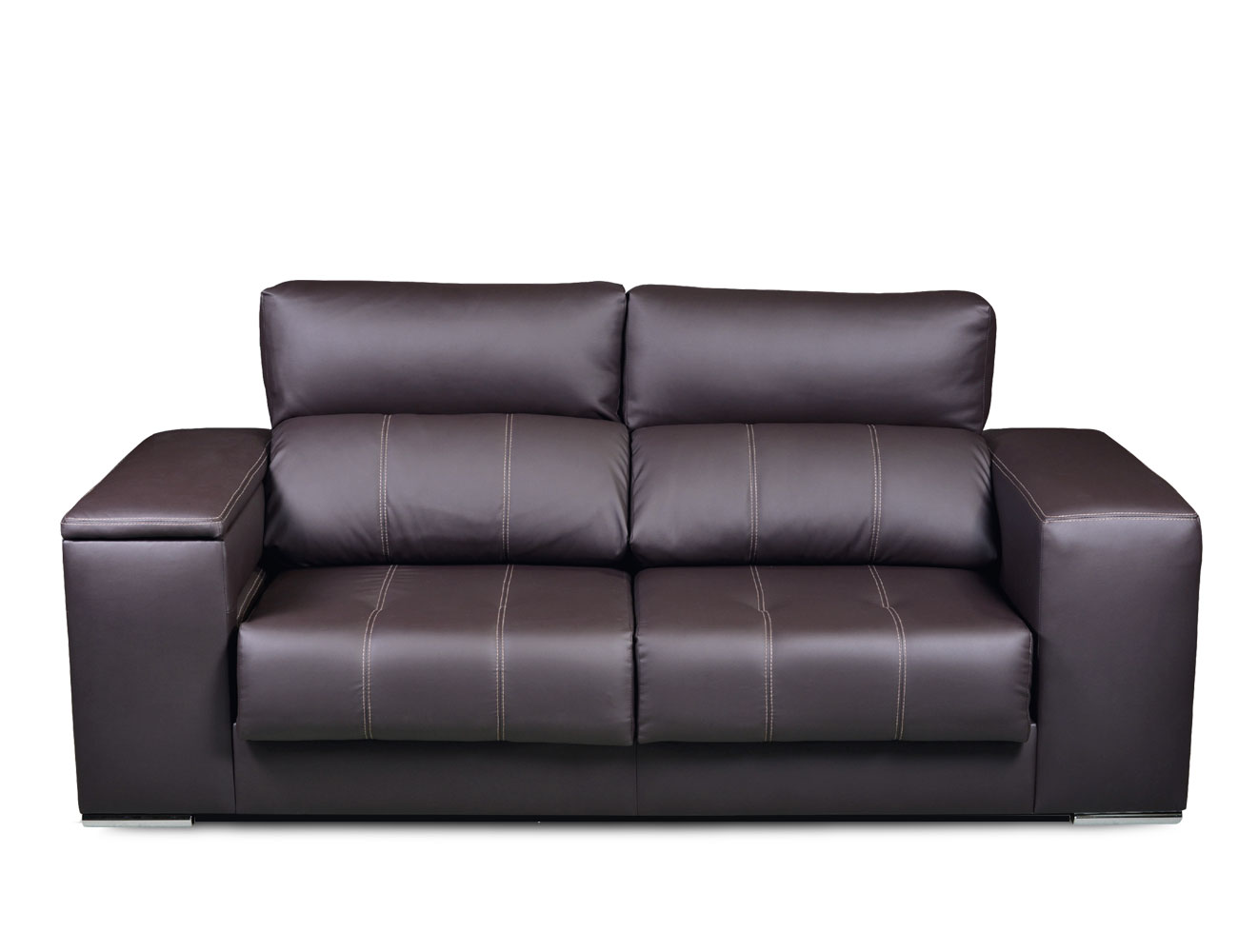 Sofa 3 plazas polipiel arcon taburete 1