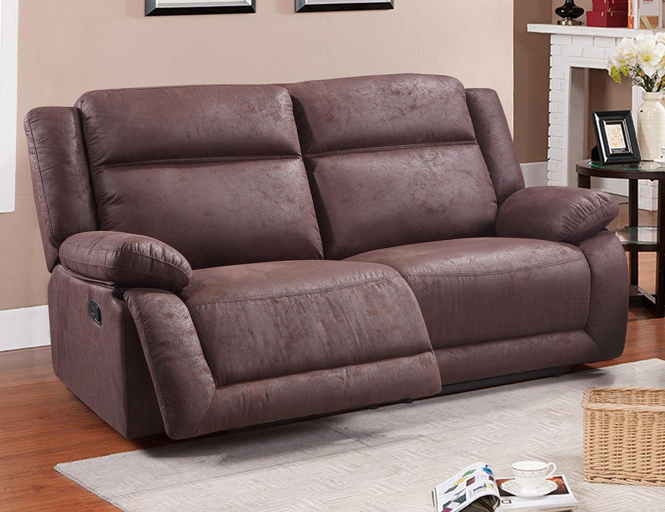 sof relax 3 plazas con 2 asientos en color chocolate 19555 factory del mueble utrera. Black Bedroom Furniture Sets. Home Design Ideas