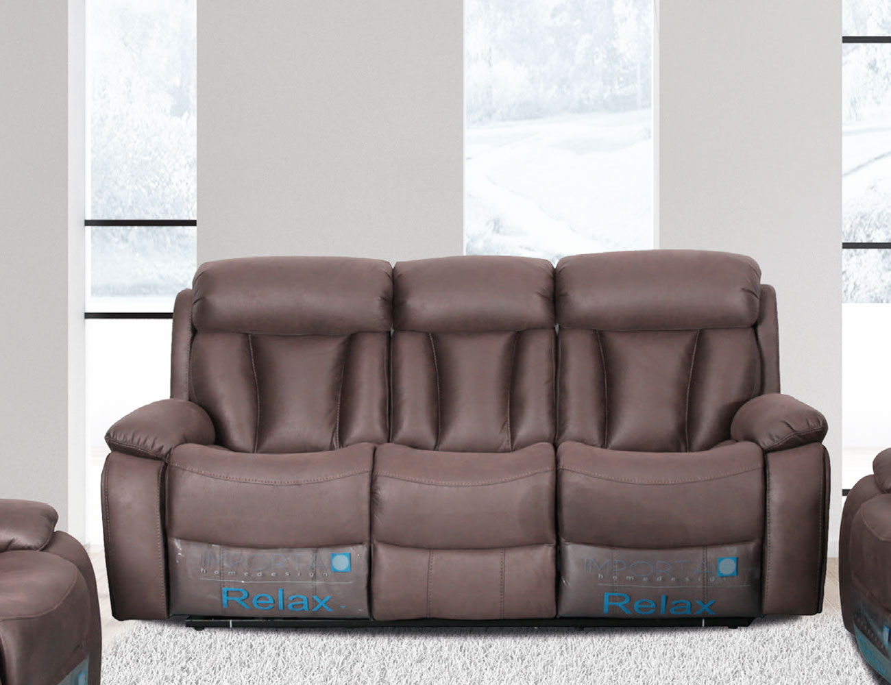 Sofa 3 plazas relax trufa
