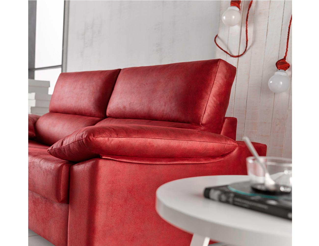 Sofa cama apertura italiano gran calidad leire rojo 216