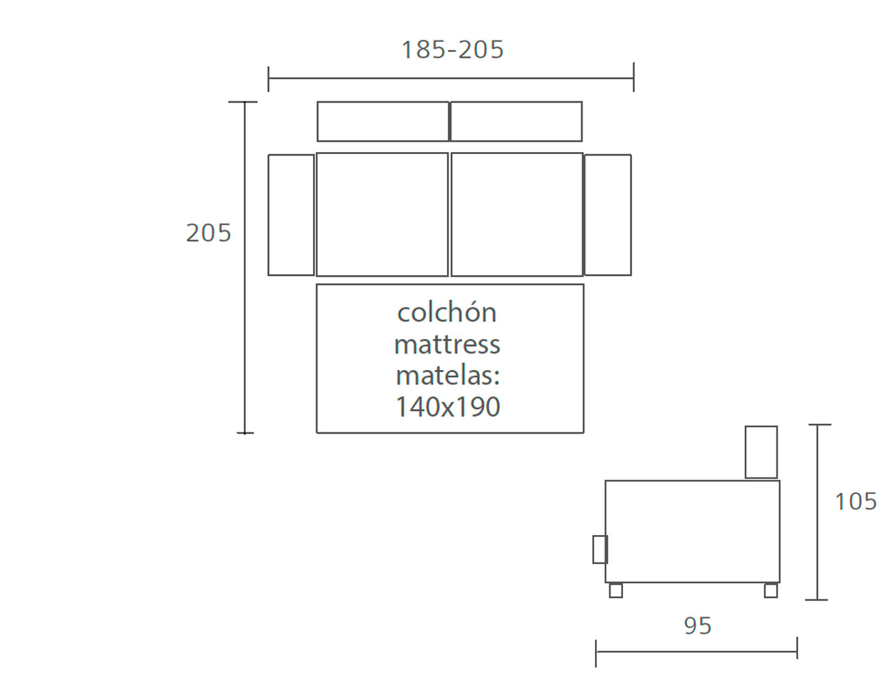 Sofa cama pedro ortiz 185 2054