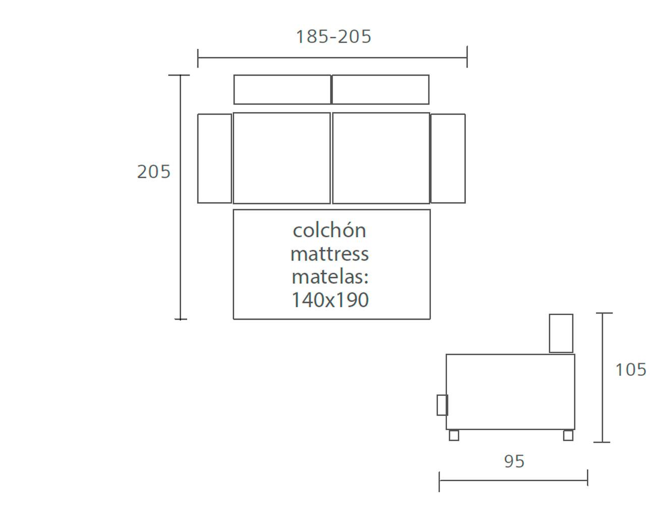 Sofa cama pedro ortiz 185 2055