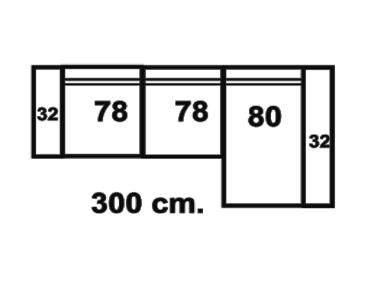 Sofa chaiselongue 300