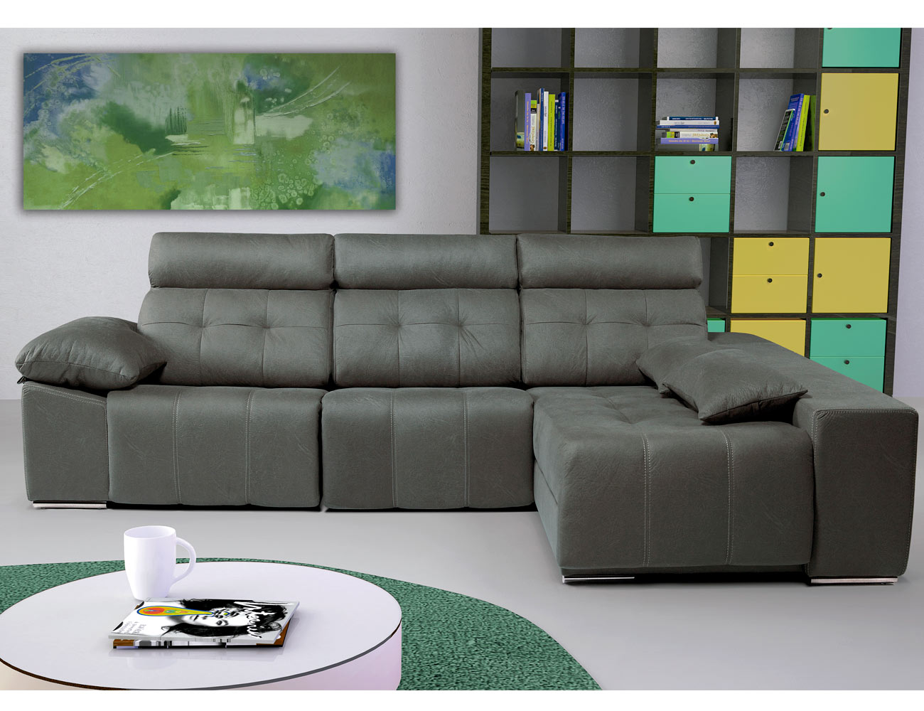 Sofa chaiselongue arcon electrico