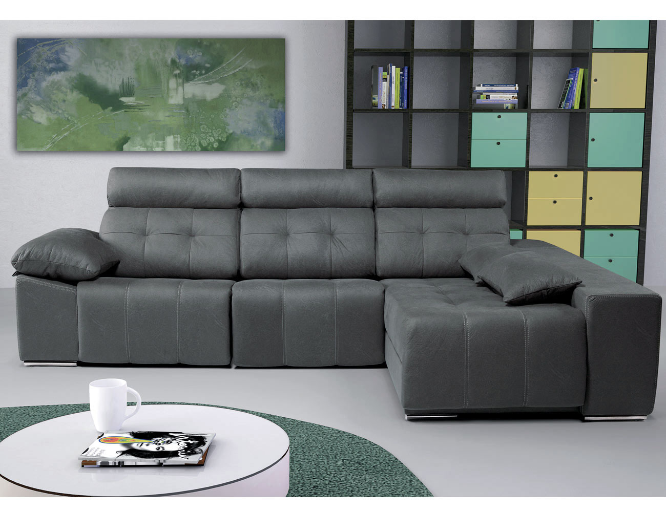 Sofa chaiselongue arcon electrico5