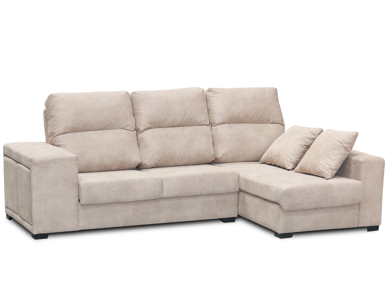 Sofa chaiselongue arcon puffs taburetes