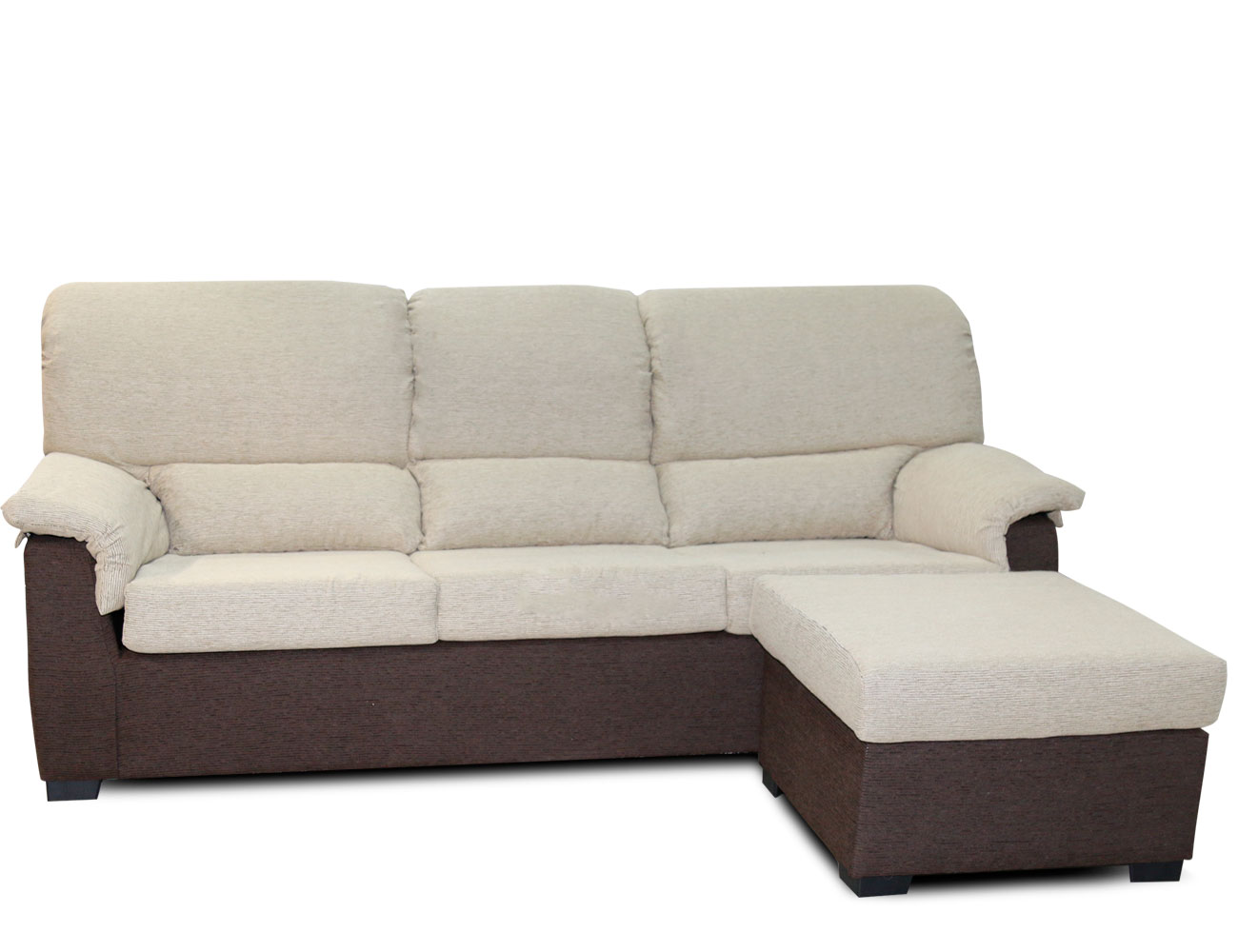 Sof chaiselongue barato con puf reversible 15285 for El factory del mueble