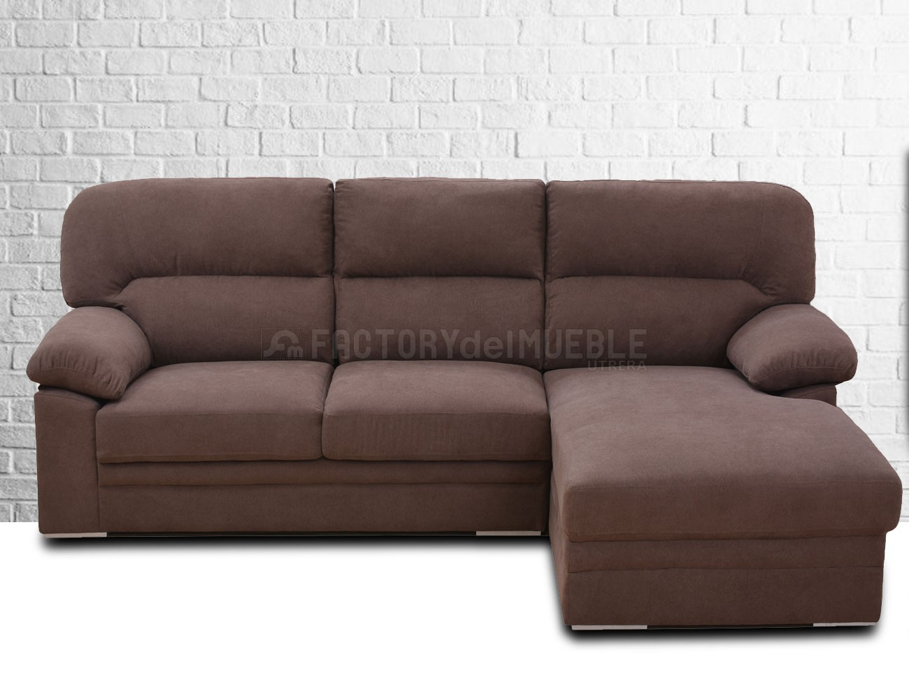 Sofa chaiselongue chocolate