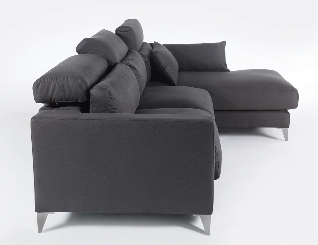 Sofa chaiselongue gran lujo decorativo grafito 114