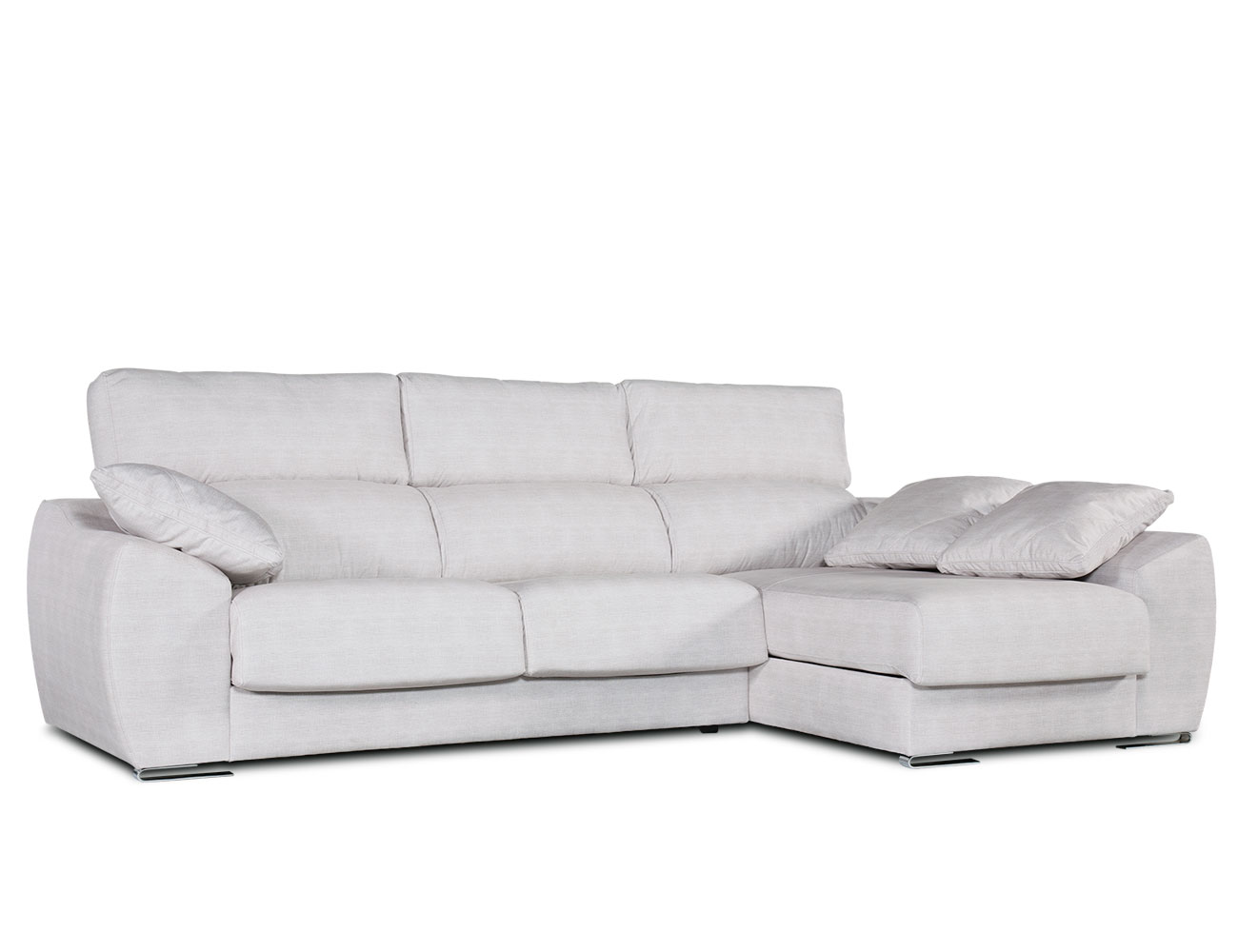 Sofa chaiselongue moderno blanco 1