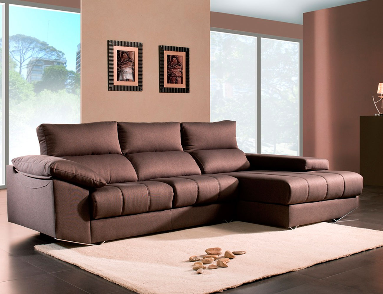 Sofa chaiselongue moderno brazo mecanico