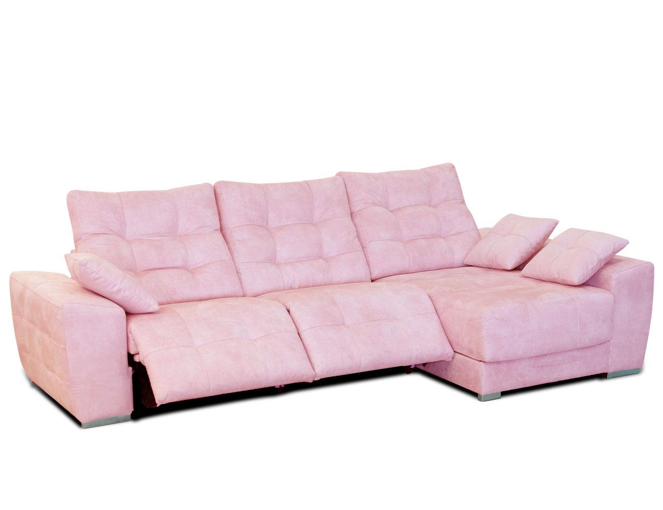 Sofa chaiselongue moderno capitone danesa pink 3