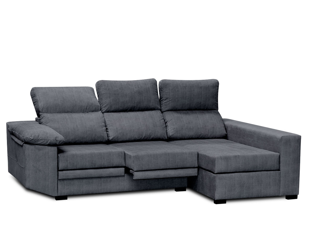 Sofa chaiselongue moderno ceniza 2