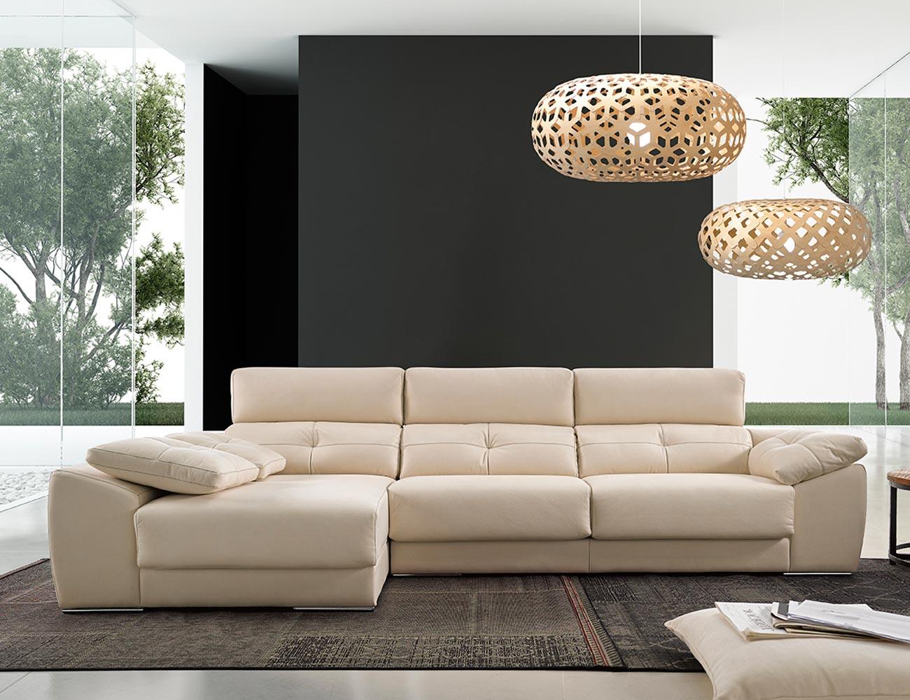 Sofa chaiselongue moderno chaiselongue losa arcon puf