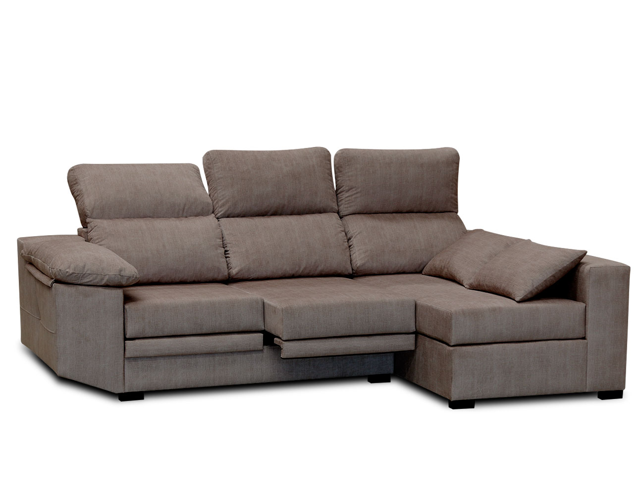 Sofa chaiselongue moderno cojines moka 2