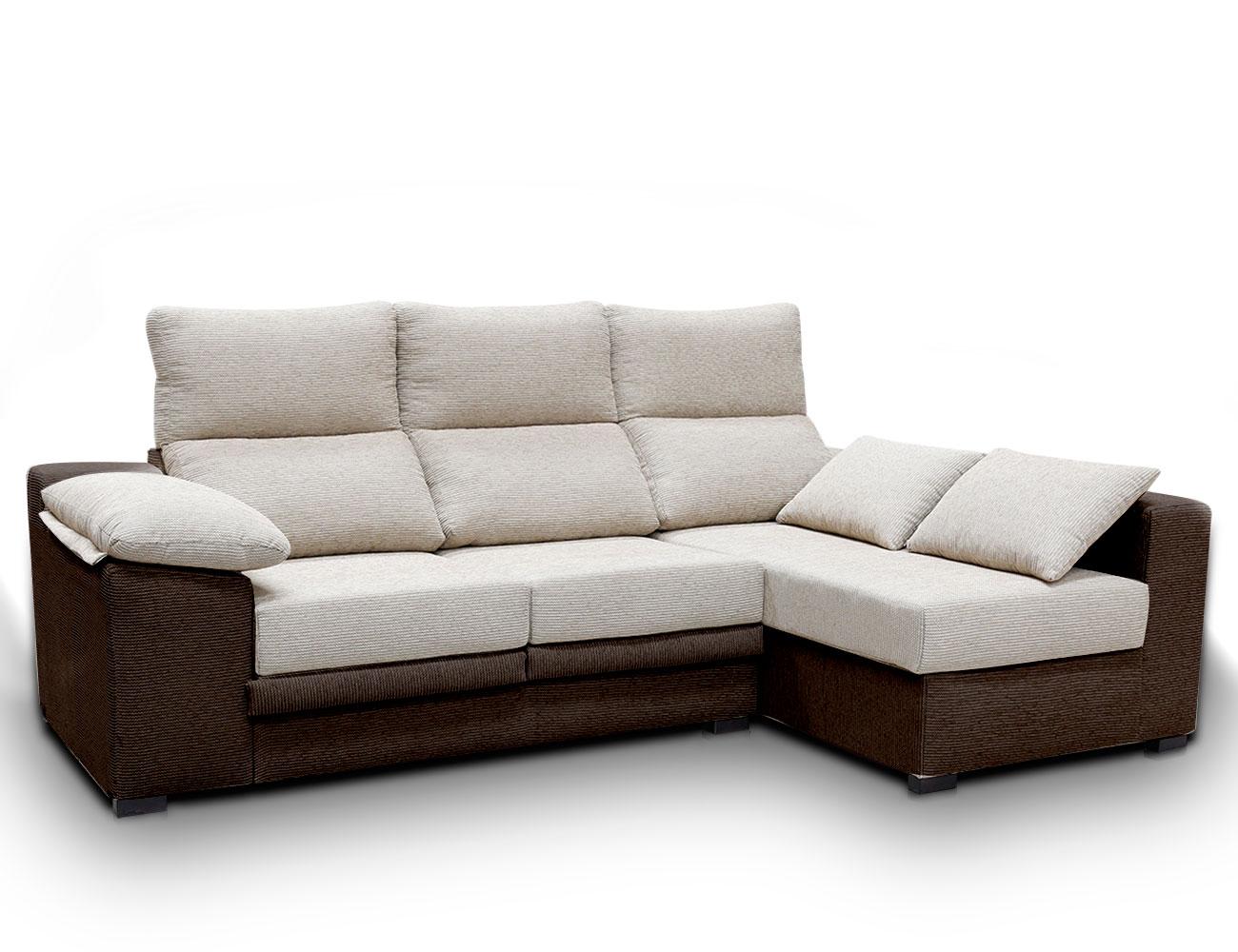 Sofa chaiselongue moderno cojines pardo cafe1