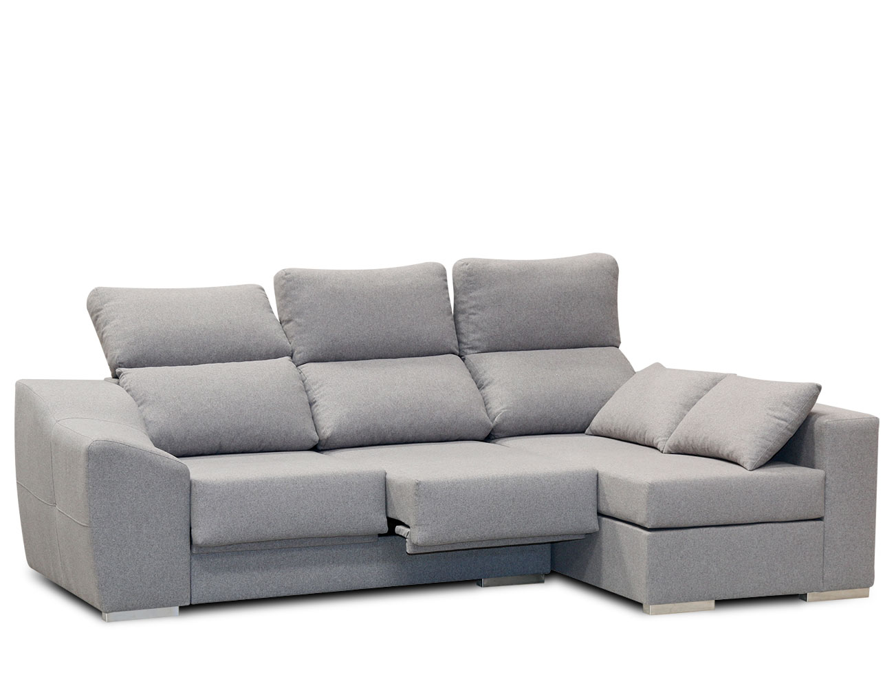 Sofa chaiselongue moderno gris 31