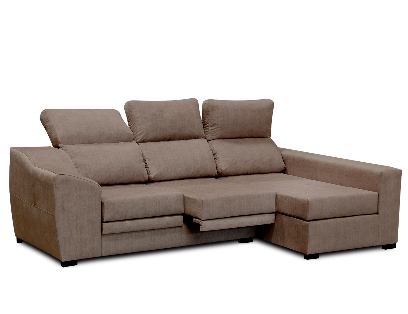 Sofa chaiselongue moderno moka 3