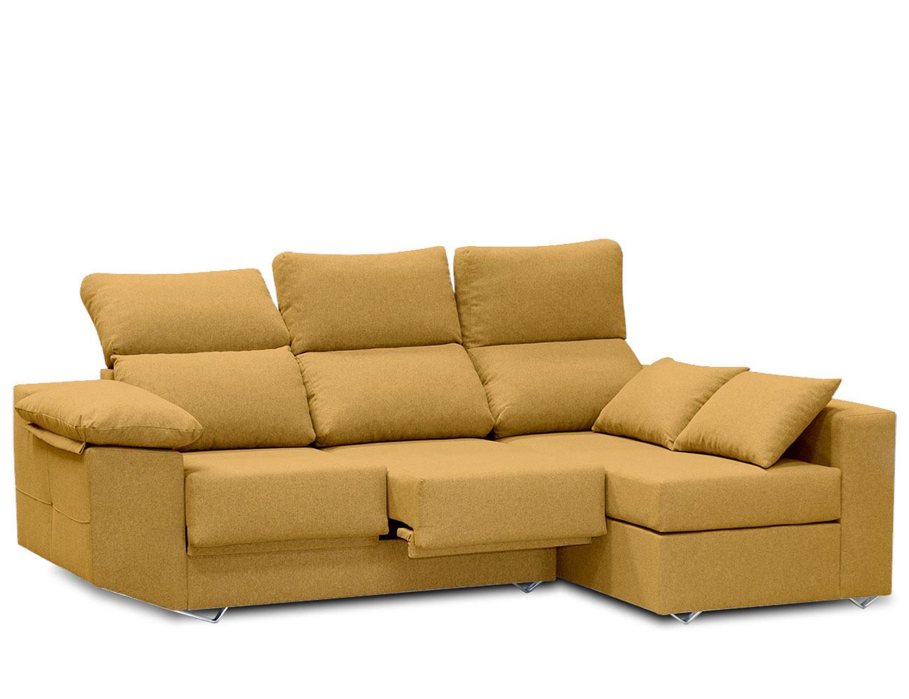 Sofa chaiselongue moderno mostaza 1