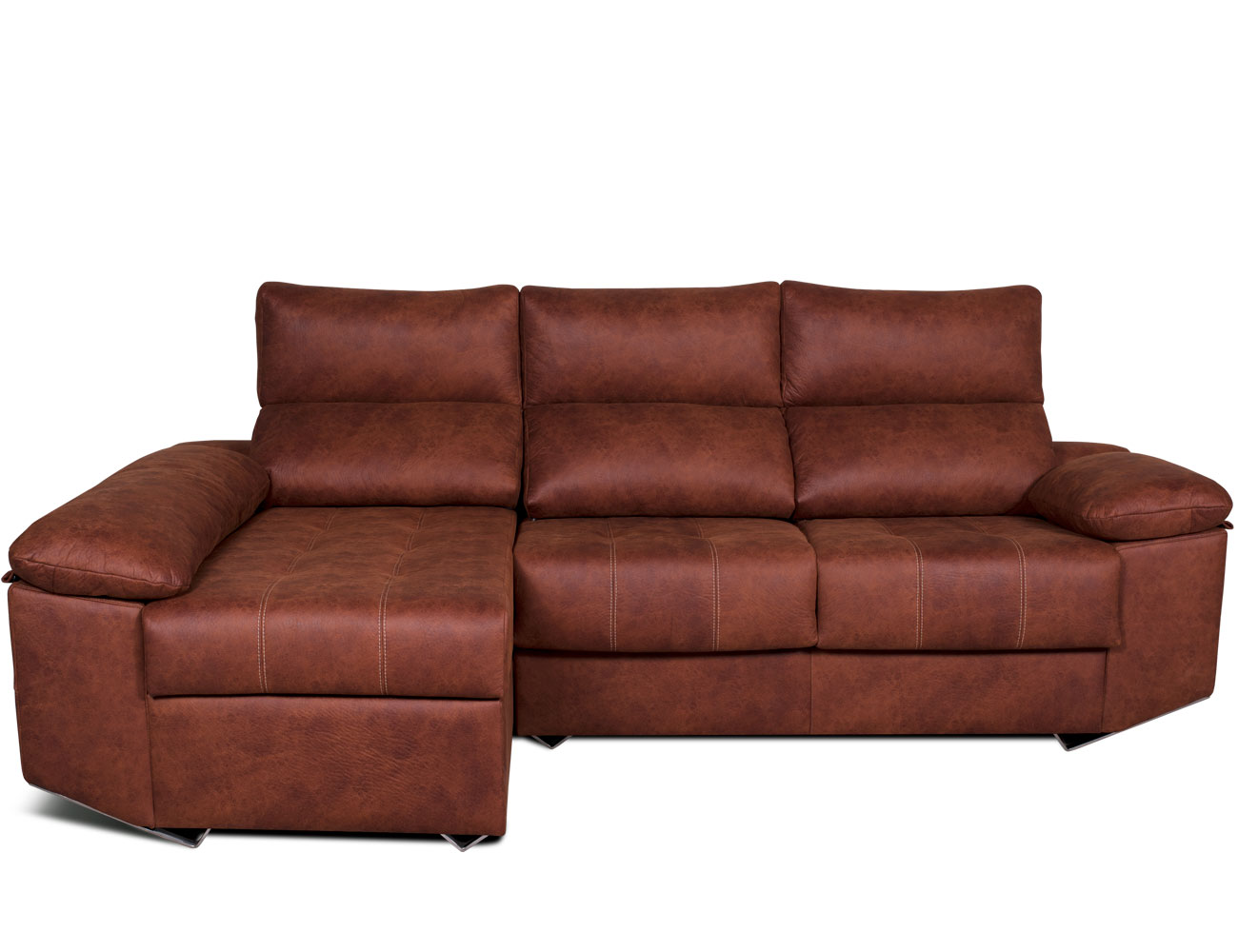 Sofa chaiselongue moderno patas forma tejido anti manchas 210