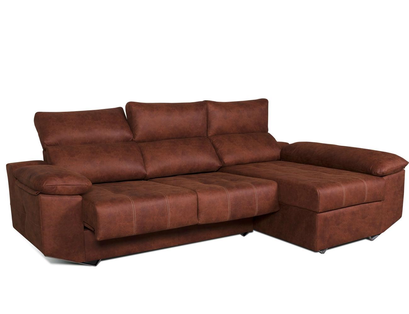 Sofa chaiselongue moderno patas forma tejido anti manchas