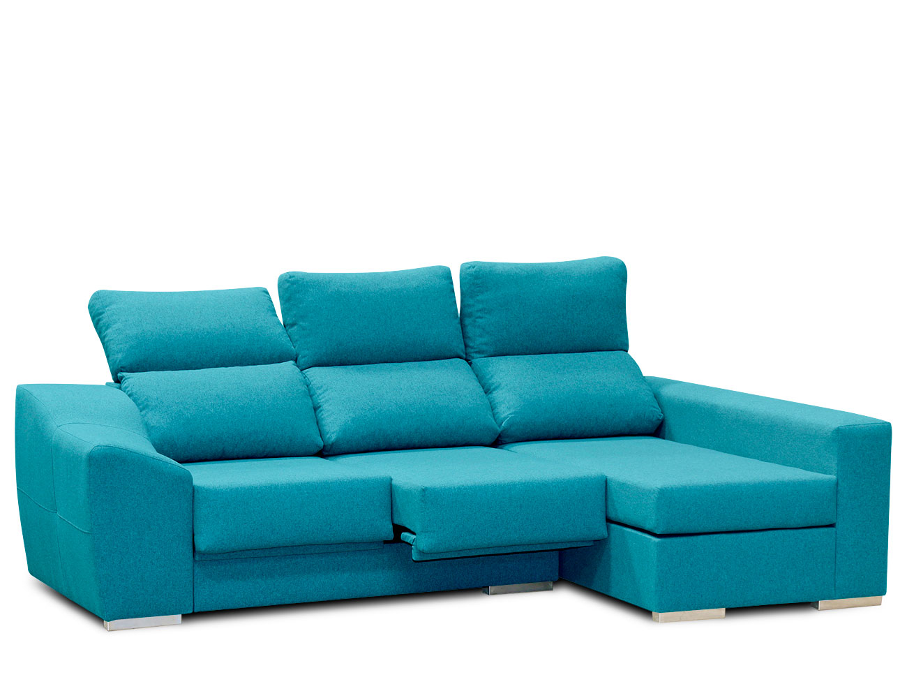 Sofa chaiselongue moderno turquesa 2