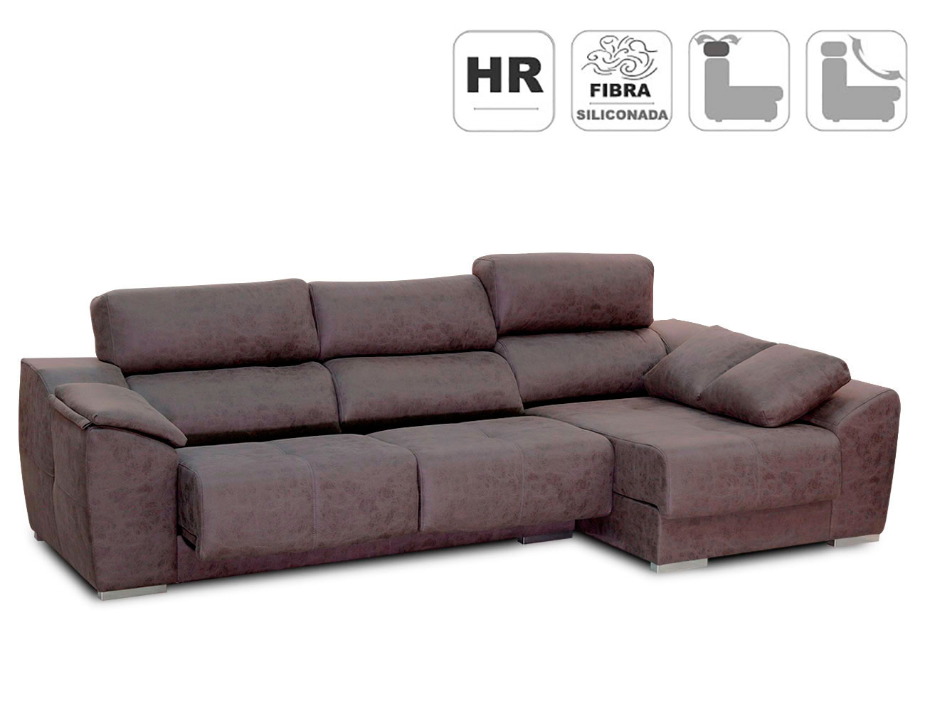 Sofa chaiselongue pared 0 magnolia anti manchas detalle1