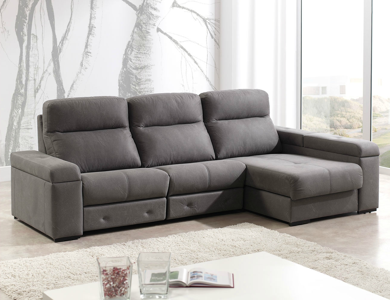 Sofa chaiselongue relax motor electrico 3 arcon1