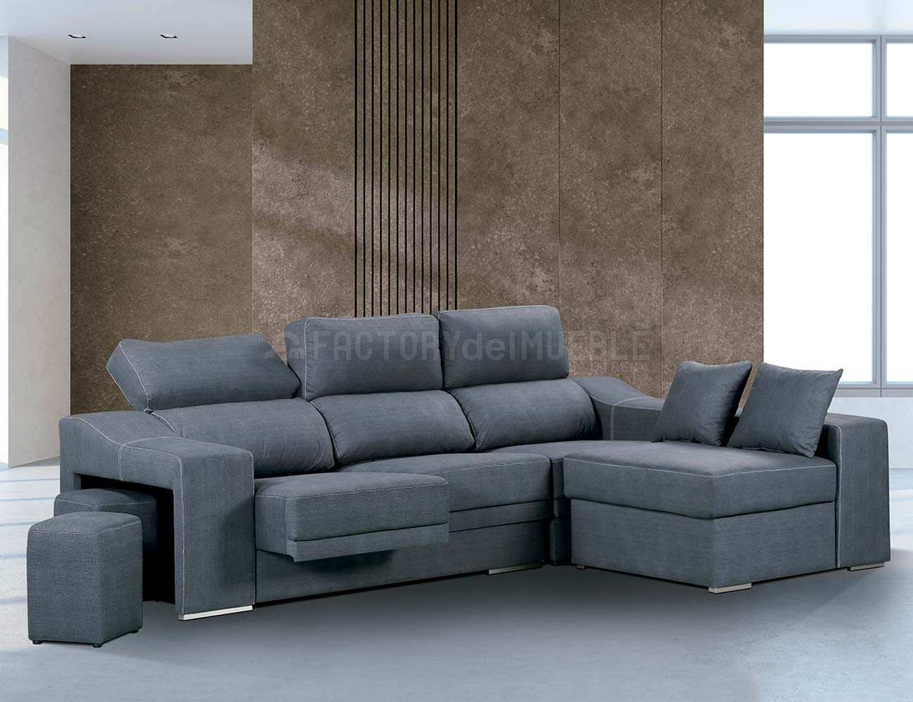 Sofa chaiselongue reversible marengo cesar