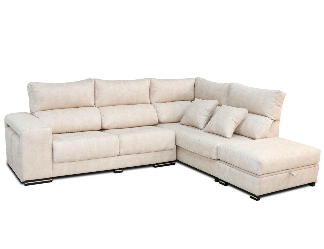 Sofa chaiselongue rincon arcon puf taburetes surf blanco
