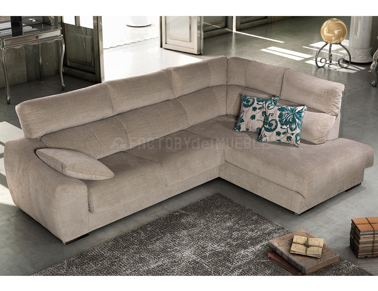 Sofa chaiselongue rincon moderno forma15
