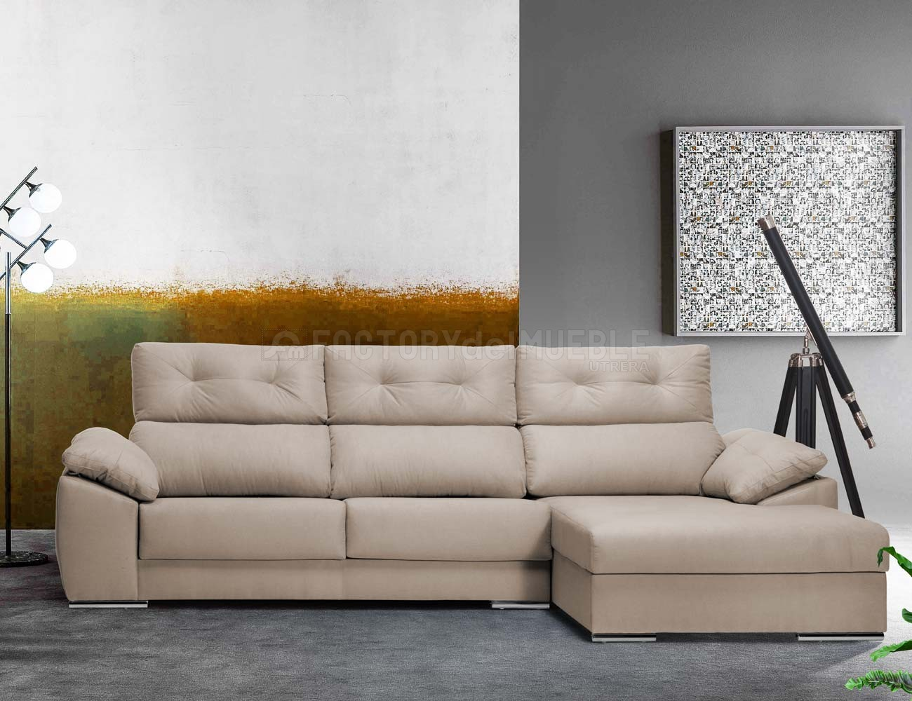 Sofa chaiselongue viena
