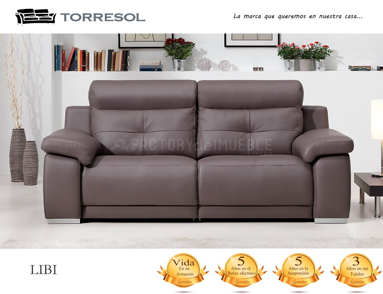 Sofa libi torresol en piel chocolate1