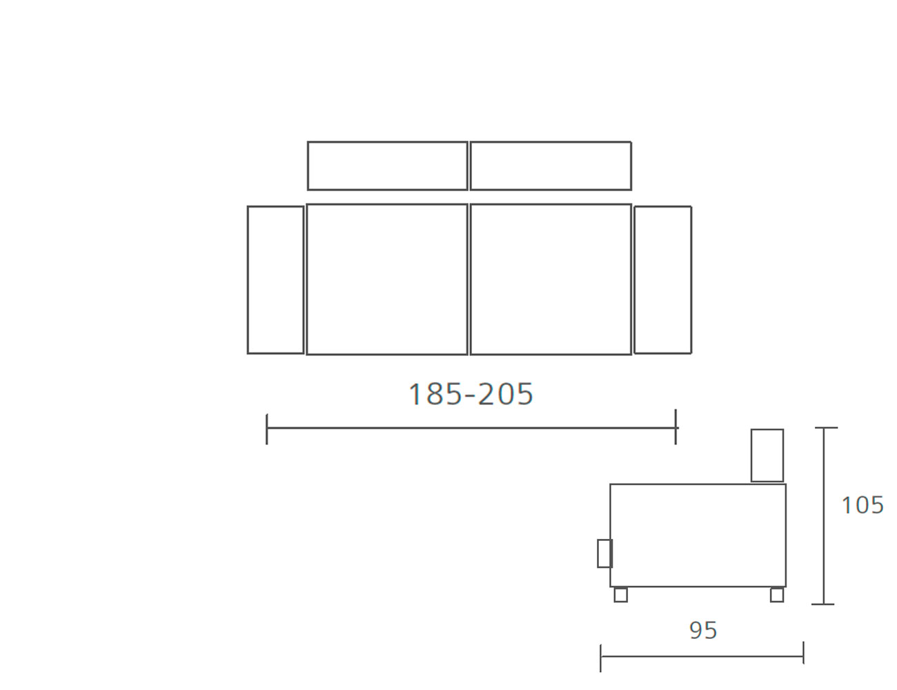 Sofa pedro ortiz fijo 3 plazas 185 2051