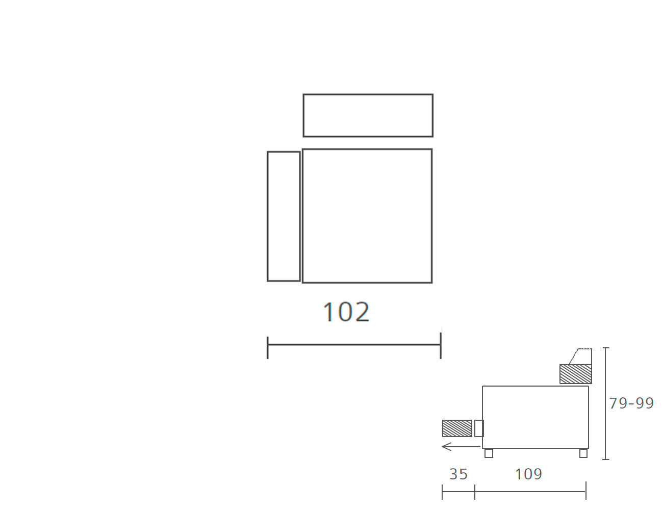Sofa piel 1 plaza 1023