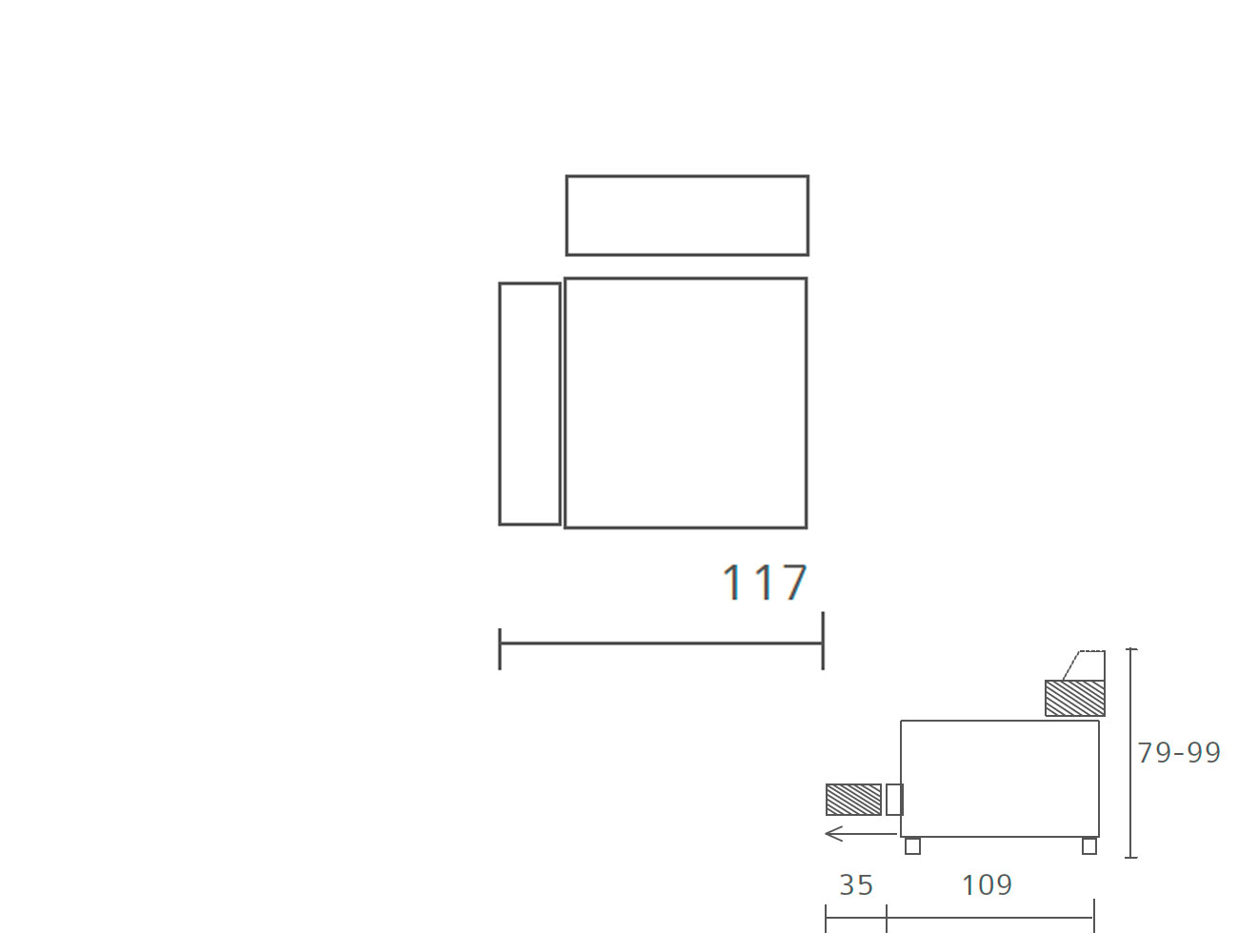Sofa piel 1 plaza 1171