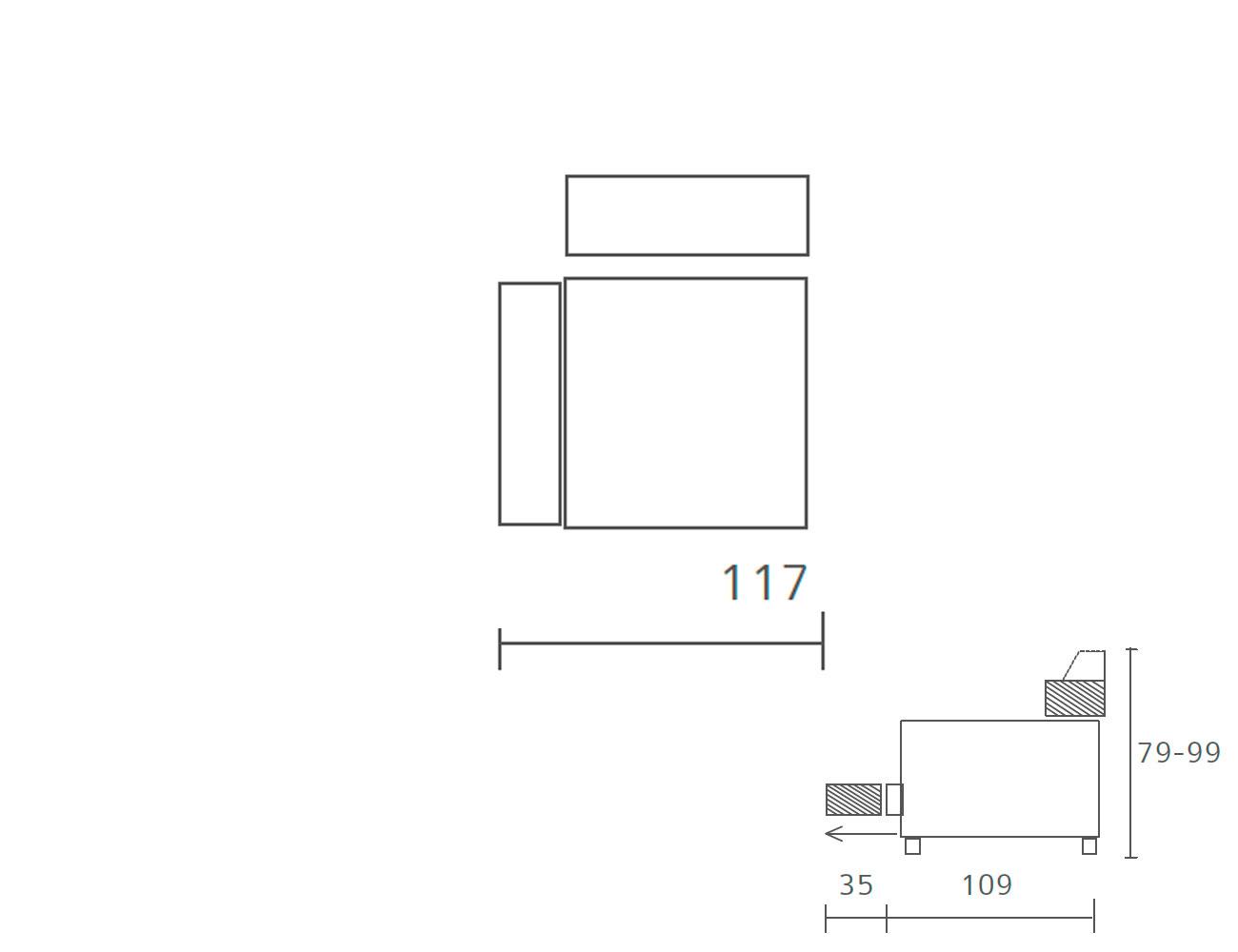 Sofa piel 1 plaza 1173