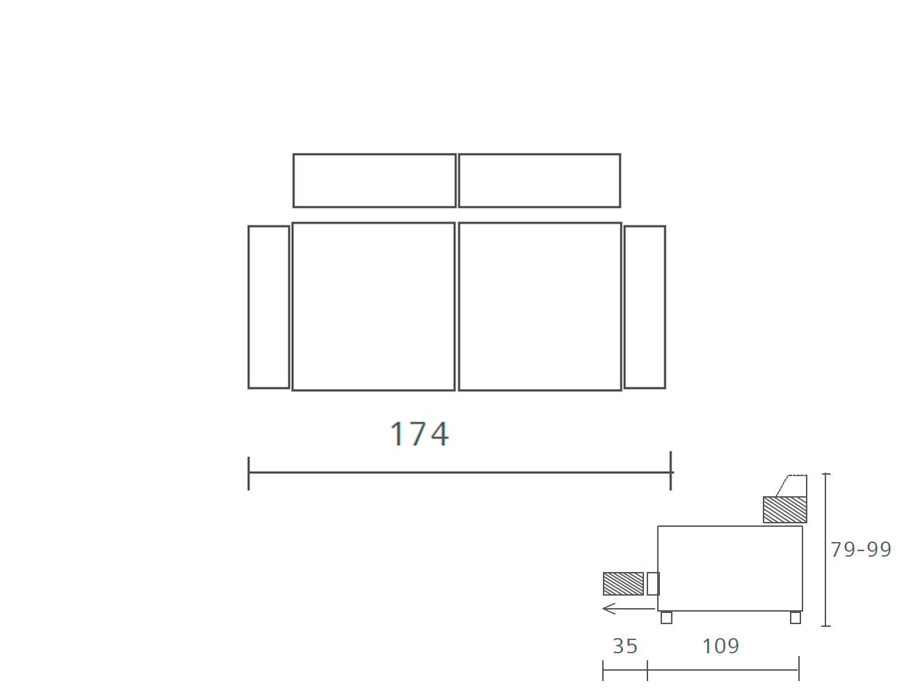 Sofa piel 1743