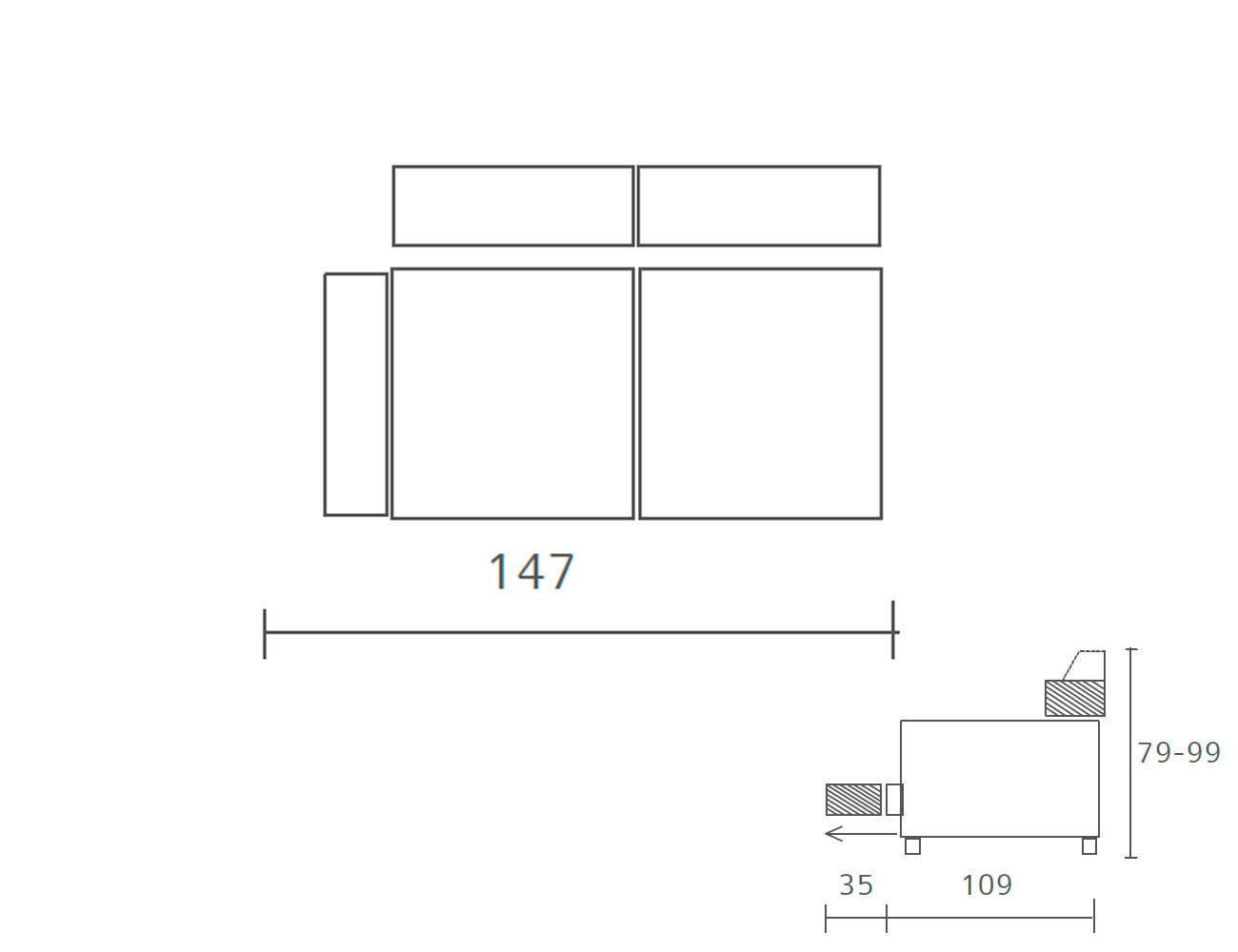 Sofa piel 2 plazas 147