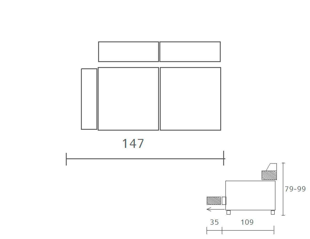 Sofa piel 2 plazas 1474
