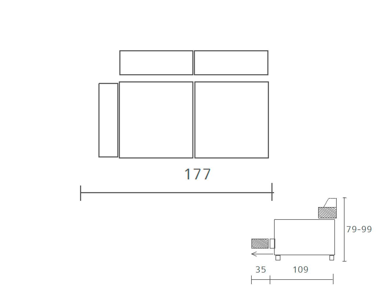 Sofa piel 2 plazas 1773