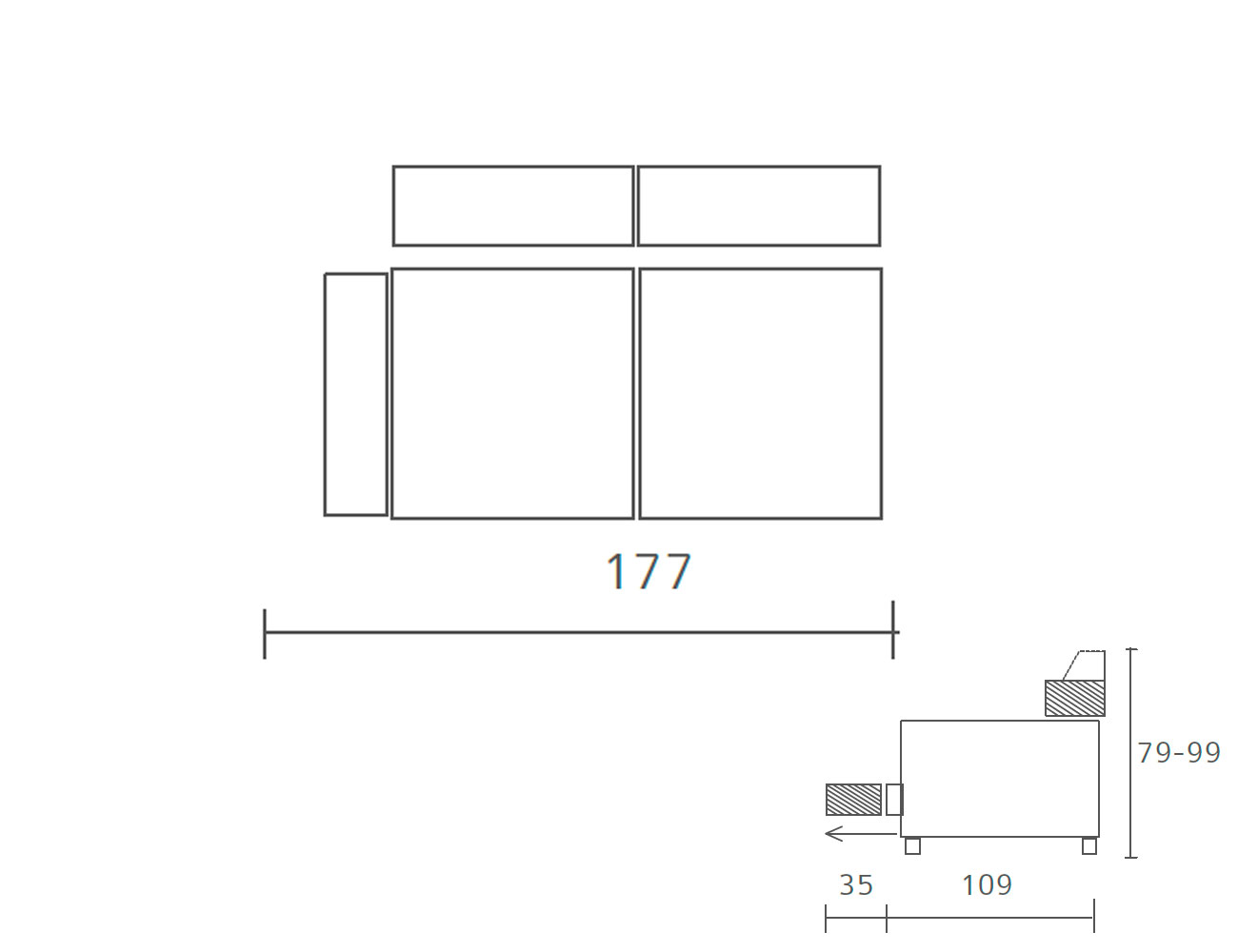Sofa piel 2 plazas 1775