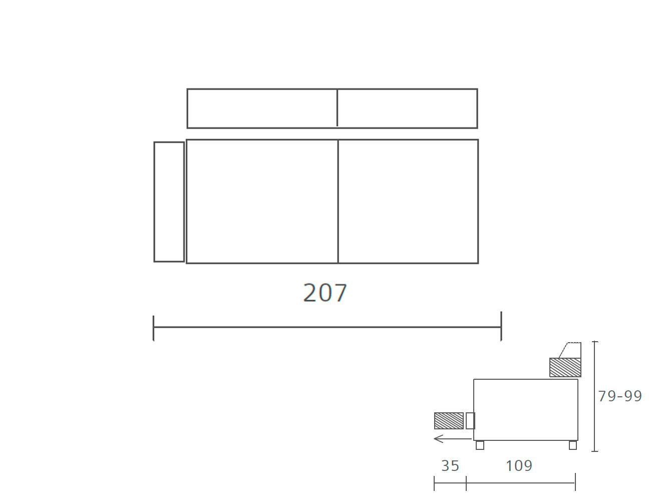 Sofa piel 2 plazas 2075