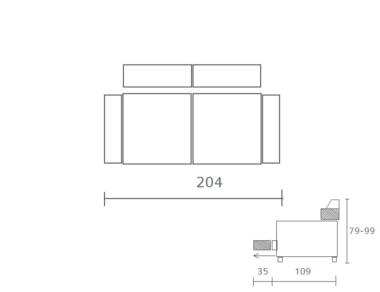 Sofa piel 204