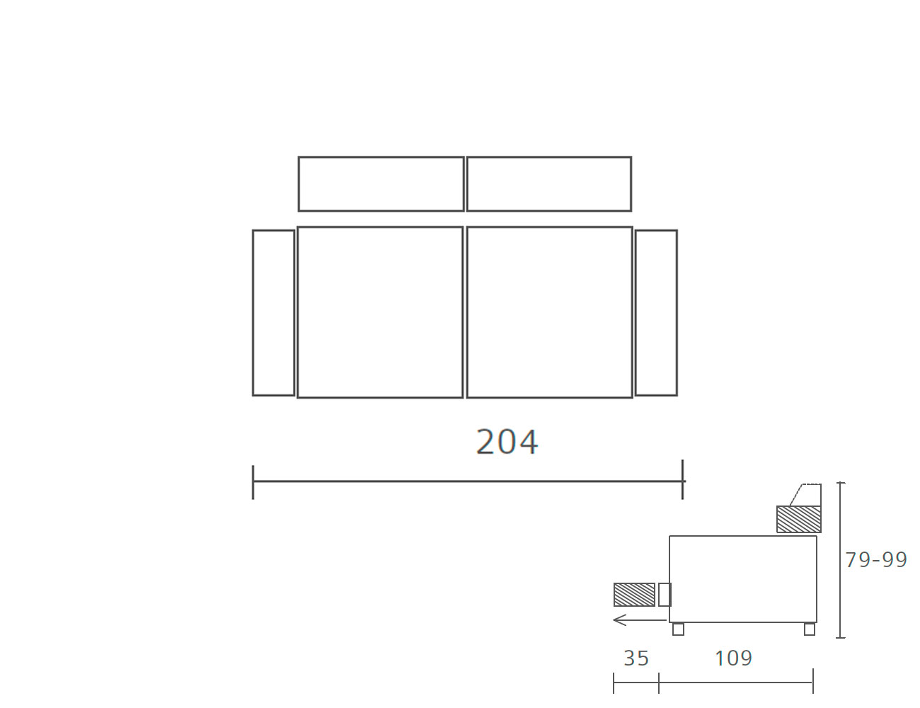 Sofa piel 2041