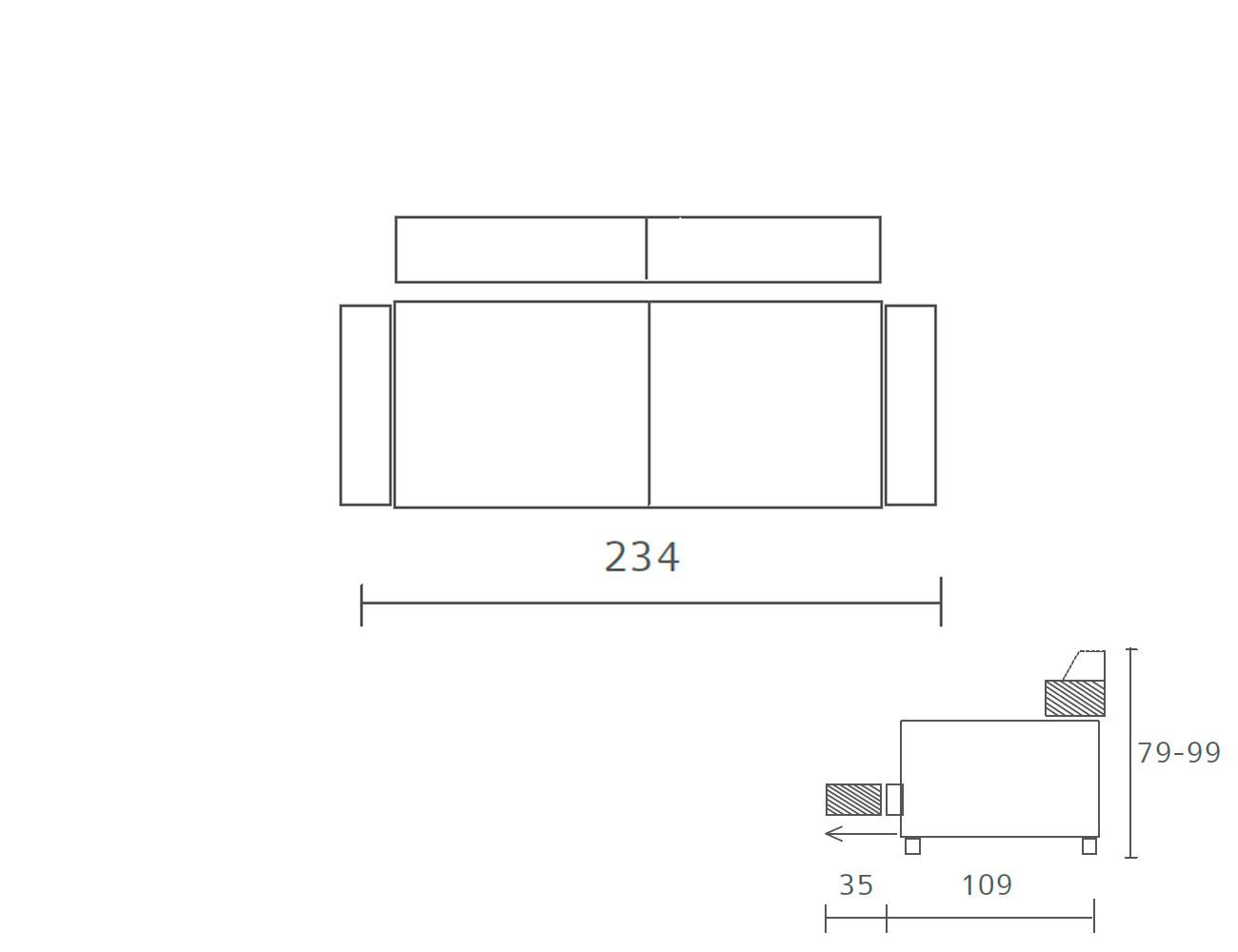 Sofa piel 234