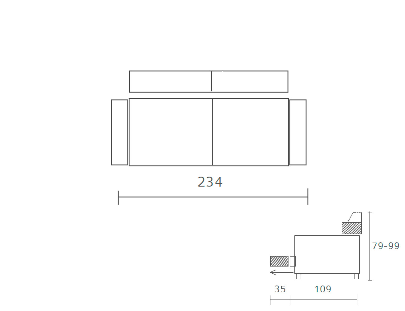 Sofa piel 2344