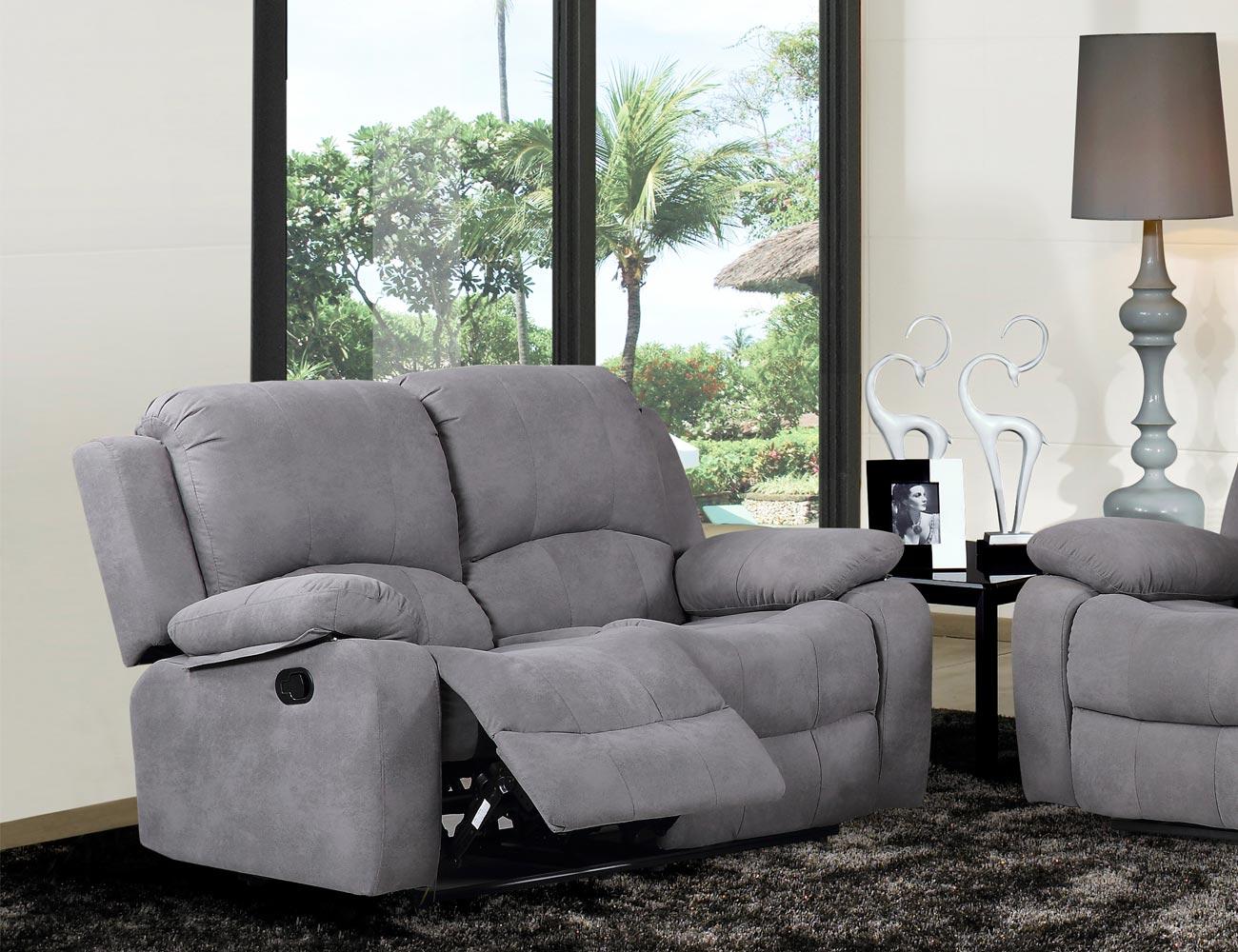 Sofa relax bandeja copas auxiliar 2 plazas