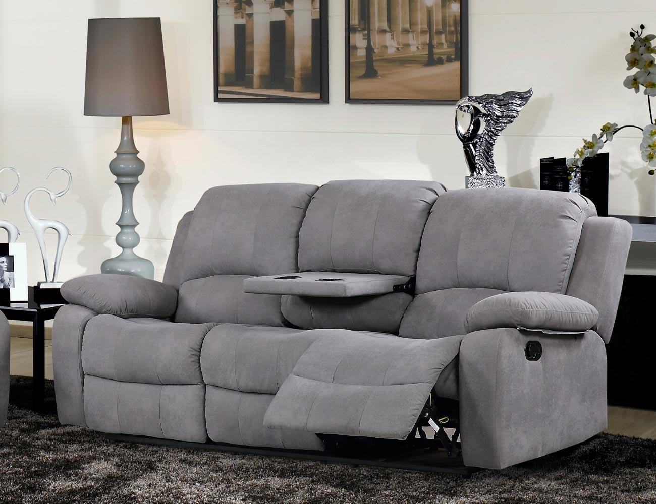 Sofa relax bandeja copas auxiliar 3 plazas