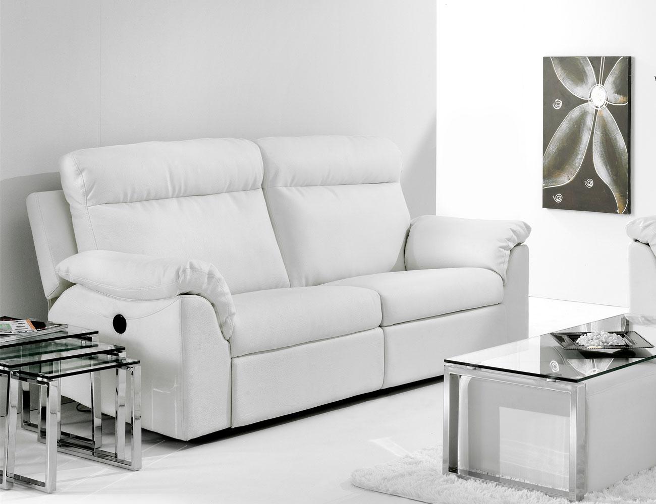 Sofa relax dos motores electrico ecopiel blanco2